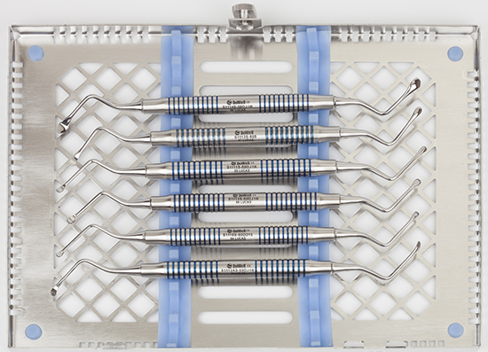 curetas dentadas para preservación dentada